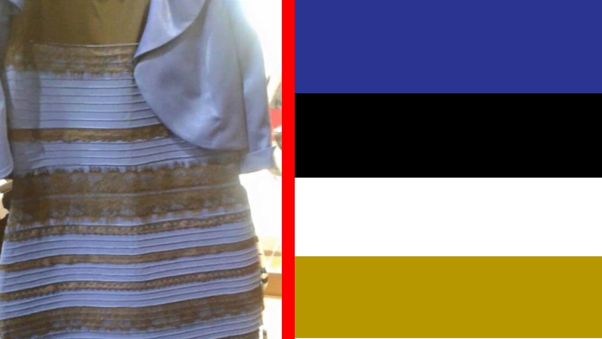 Vestito blu e nero o bianco ed oro