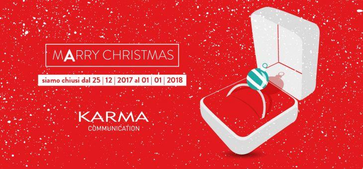 Karma Communication sposa il Natale, vi augura Buone Feste…e va in vacanza