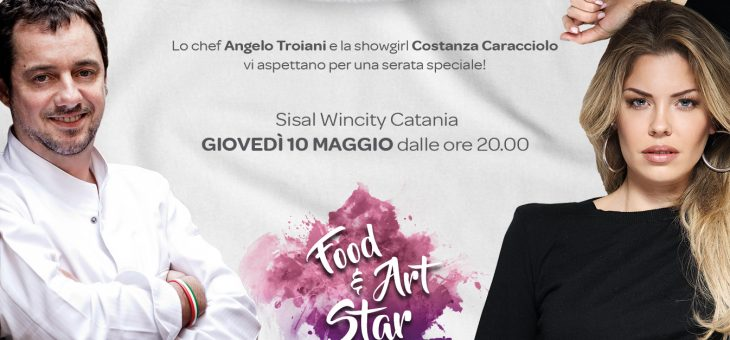 Angelo Troiani e Costanza Caracciolo da Sisal Wincity per Food Art and Star