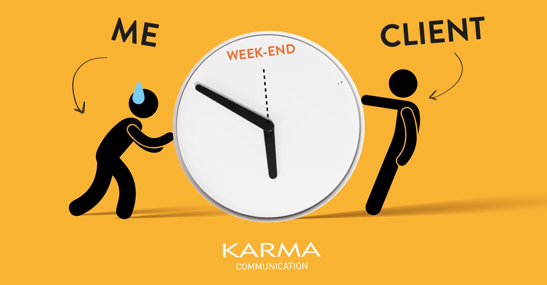 Karma Communication - Tra venerdì e lunedì