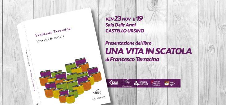 """Francesco Terracina presenta """"Una vita in scatola"""" al Castello Ursino"""